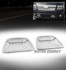 07 14 Chevy Avalanche Suburban Tahoe Bumper Tow Hook Mesh Grille Insert Chrome
