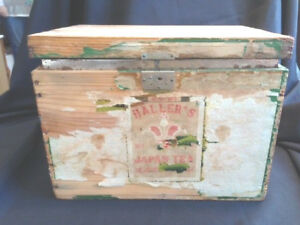 Ant Tin Lined Tea Shipping Wooden Box Crate Haller S Japan Tea 10 Interior Film