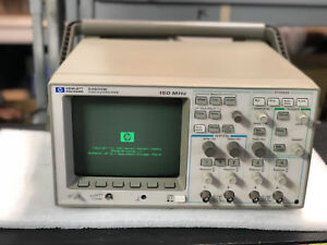Used Hp 54602b 150mhz Oscilloscope Powers Up Passed Self Test