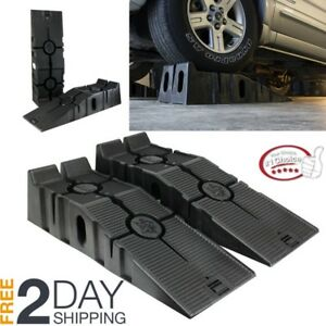 Portable Low Rise Vehicle Lift Heavy Duty Car Ramp Service Repair Tool Garage