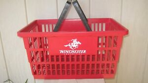 Three 3 Qty Winchester Plastic Store Shopping Baskets