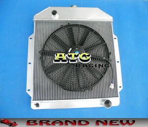 3 Rows Aluminum Radiator Fan For 1949 1953 Ford V8 Cars 1950 1951 1952 49 50