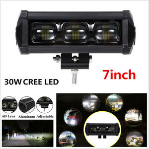 1pcs 7inch 30w 8d Cree Led Work Light Bar Spot Driving Fog Lamp Offroad 4wd Ip68