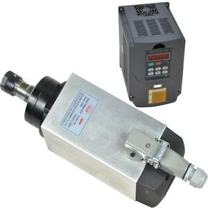 4kw Four Bearing Air cooled Square Motor Spindle And 4kw Vfd Inverter Drive