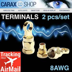 Ring Terminals 8 Awg 5 16 Wiring Battery Starter Cable Eyelet Screw in Type Set