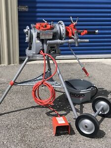 Ridgid 300 Complete Pipe Threading Machine W Oiler And 2 Die Heads 1 2 2