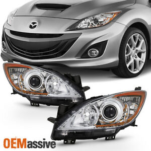Fit 2010 2011 2012 2013 Mazda 3 Mazda3 Halogen Headlights 10 11 12 13 Left Right