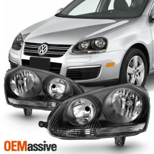 Fit Black 2006 2007 2008 2009 Volkswagen Jetta Gti Halogen Headlights Lamp
