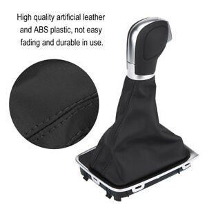 Black Leather Gear Shift Knob Gaiter Boot Dust proof Cover For Vw Go