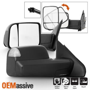 For 02 08 Dodge Ram 1500 03 09 2500 3500 Manual 09 Style Tow Mirrors W Signal