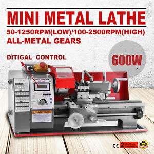 Brushless Motor Mini Metal Lathe Woodworking Tool Bench Top Motorized Metal Wood