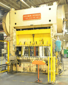 250 Ton Capacity Brown Boggs Straight Side Press For Sale