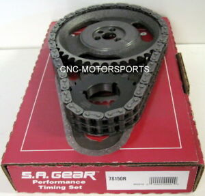 Sbc Sb Chevy 350 Oe Roller Cam 250 Double Roller Timing Chain 3 Keyway Sa Gear