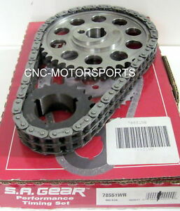 Sb Ford 302 351w Late Billet Race Timing Chain With Thrust Washer 78551wr 3 Key