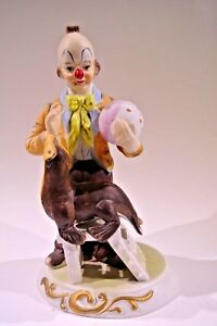 Clown And Seal Figurine