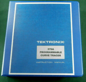 Tektronix 370a Service Manual W 11 x17 Foldouts Protective Plastic Covers