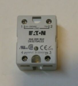 Eaton Solid State Relay Ssr 75 Amp D93275acz2 New Free Ship