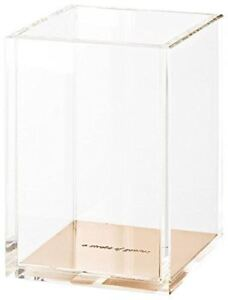 New Kate Spade New York Acrylic Pencil Cup Gold Free Shipping