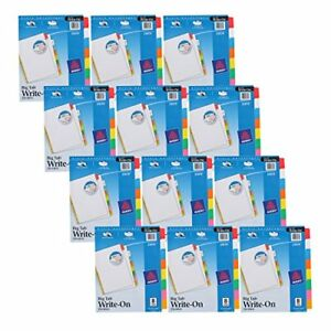 New Avery Big Tab Write On Dividers 8 Tabs 12 Sets Free Shipping