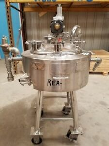 10 Gallon Stainless Steel Jacketed Pharmaceutical Reactor Fermenter 60psi 100f