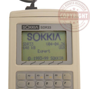 Sokkia Sdr33 Surveying Data Collector total Station gps nikon topcon tds hp48