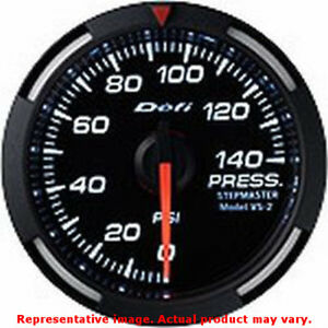 Defi Racer Gauge Df06603 Black 52mm Range 0 140psi Fits Universal 0 0 Non