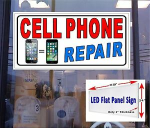 Cell Phone Repair Led Window Sign 48x24 Neon Banner Alternative New Led