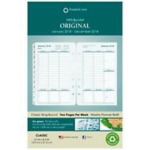 Franklincovey Original Dated Daily Planner Refill Januarydecember 8 12 X 11