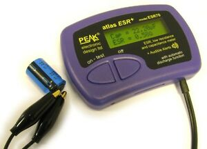 Peak Esr70 Atlas Esr Plus Capacitor Analyser With Audible Alerts From Japan F s