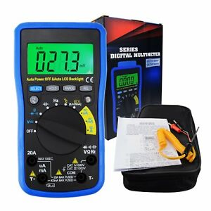 Digital Lcd Autoranging Dmm Multimeter Frequency Capacitance Temperature Meter