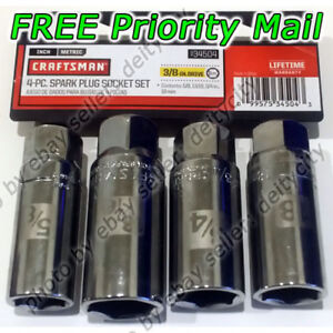 Craftsman 4 Pc Spark Plug Socket Set 3 8 Drive Sae 5 8 3 4 13 16 Metric 18mm