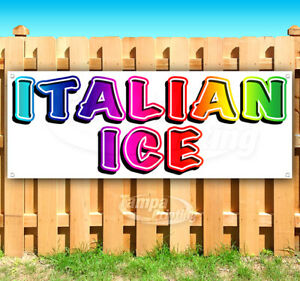 Italian Ice Advertising Vinyl Banner Flag Sign Many Sizes Carnival Fair Food