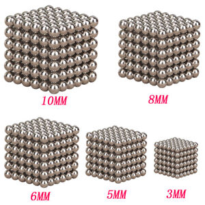 Lot 3 5 6 8 10mm 216pc Neodymium Sphere Ball Magic Cube 3d Puzzle Ball Fidget