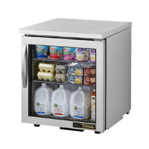 True Tuc 27g Undercounter Glass Door Refrigerator