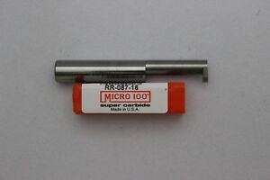 Micro 100 Rr 087 16 Right Hand Retaining Ring Grooving Tool Solid Carbide