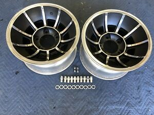 Vintage Pair 15x8 1 2 Dukes Of Hazzard Vector Mag Wheels Ford 5on5 1 2