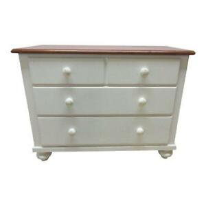 Ethan Allen Paint Distressed Cottage Bachelors Chest Dresser Formica Top B