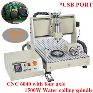 4 Axis 6040 Cnc Router Engraver Usb Port 3d Carving Milling Engraving Machine Us