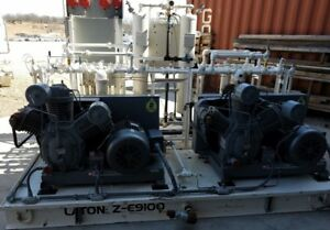 Industrial Ingersoll Rand 3000x30 twin air Compressor Package 3 Cylinder 30 hp