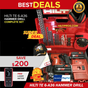 Hilti Te 6 a 36 Hammer Drill New Free Laser Meter Extras Fast Ship