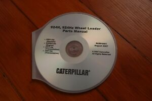 Cat Caterpillar 924h Front End Wheel Loader Parts Manual Book Cd Catalog Spare