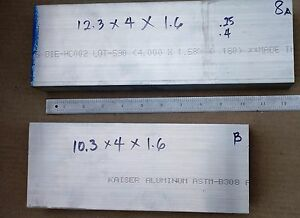 Item 8 C channel 4wx1 6h X 312 Thk 6061 Aluminum U channel Unpolished 2 Pc