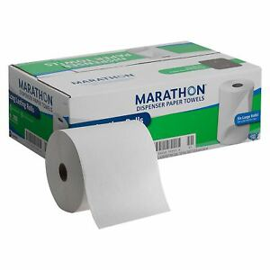 New Marathon Dispenser Roll Hand Paper Towels 700 Ft 6 Rolls Free Shipping