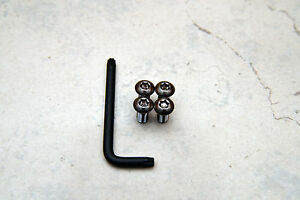 Anti Theft Black Nickel Security Screws For Lexus Front License Plate Frame