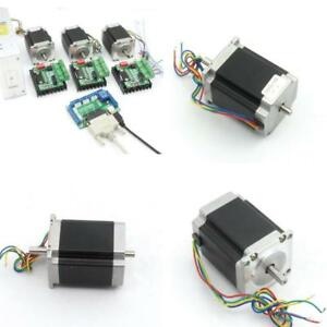 3 Axis Controller Kit Nema23 270ozin Cnc Stepper Motor Dual Shaft 76mm 3a