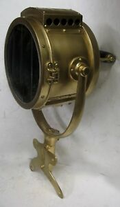 Rushmore Brass Carbide Searchlamp Model T Ford Speedster Fire Truck Searchlight