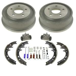 New Rear Drums Shoes Wheel Cylinders Spring Kit For Dodge Ram 1500 Pick Up 00 01
