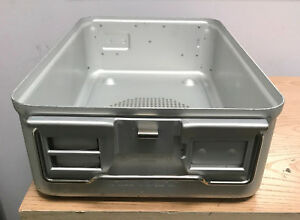 Aesculap Steril Aluminum Sterilization Case Tray Container Jn741
