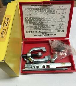 3 16 1 2 Double Flaring Tool Kit No 163 Cal van Tools Made In Usa