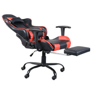 Red Gaming Chair Racing Style High back Office Chair Lumbar Support And Headrest